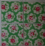 Ceramic Wall Tiles Made With Cath Kidston Large Provence Rose Green
